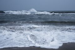 Rhythm of Ocean waves. In nature Stock Photos