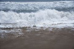 Rhythm of Ocean waves. In nature Royalty Free Stock Images