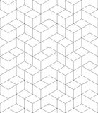 Rhythmic contrast textured endless pattern with cubes, continuous. Black and white geometric background Stock Images