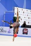 Rhythmic gymnast U. Trofimova Pesaro WC Pesaro '1. During the rhythmic gymnastic World Cup 2010, on August 28th, Senior Ulyana Trofimova of Uzbekistan performs stock photo