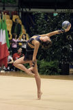 Rhythmic gymnastic. Italian National Championship in Desio (MI) - Italy, 7th, November, 2009 The athlete in the photo is FEDERICA FEBBO, performing with ball Stock Photo