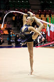Rhythmic gymnastic. Italian National Championship in Desio (MI) - Italy, 7th, November, 2009 Royalty Free Stock Image