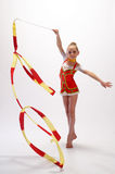Rhythmic gymnastic Stock Photos