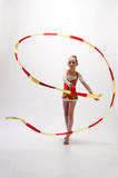Rhythmic gymnastic Stock Images