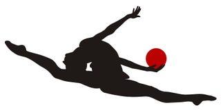 Rhythmic gymnastic. Abstract vecror illustration of rhythmic gymnastic Stock Photography