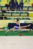 Rhythmic gymnastic Stock Photo