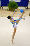 Rhythmic gymnastic. Athlete at the National Rhythmic gymnastic  championship in Romania Royalty Free Stock Image