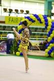 Rhythmic gymnastic Royalty Free Stock Images