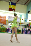 Rhythmic gymnastic Royalty Free Stock Photography