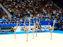 Rhythmic Gymnastic: Italy Royalty Free Stock Photos