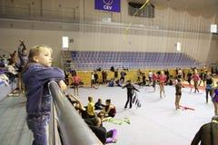 Rhythmic gymnastics Stock Photography