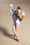 Rhythmic gymnastics Royalty Free Stock Photography