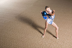 Rhythmic gymnastics Royalty Free Stock Image