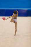 Rhythmic Gymnastics Stock Photography