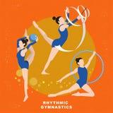 Rhythmic gymnastics concept Royalty Free Stock Images