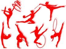 Rhythmic gymnastics exercises Royalty Free Stock Photo