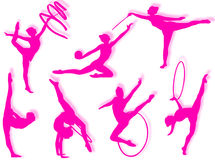 Rhythmic gymnastics exercises Royalty Free Stock Photography
