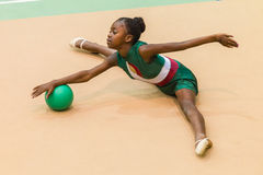 Rhythmic Gymnastics Girl Ball Style Stock Photography