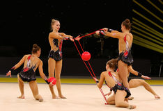 Rhythmic Gymnastics Grand Prix in Kiev, Ukraine Royalty Free Stock Image