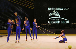 Rhythmic Gymnastics Grand Prix in Kiev, Ukraine Stock Photography