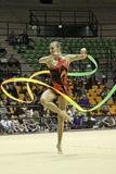 Rhythmic gymnastics Italian Royalty Free Stock Images