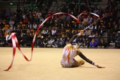 Rhythmic gymnastics Italian Championships stock photos