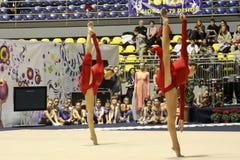 Rhythmic gymnastics Italian Championships Stock Images