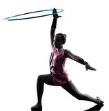 Rhythmic Gymnastics  little girl child Royalty Free Stock Image