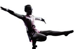 Rhythmic Gymnastics  little girl child Stock Photography