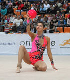 Rhythmic Gymnastics in Moscow Royalty Free Stock Image