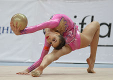 Rhythmic Gymnastics in Moscow Stock Photography