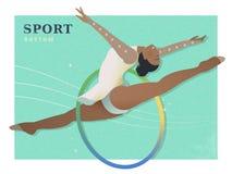 Rhythmic gymnastics poster Royalty Free Stock Photography