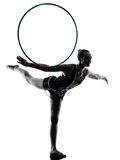 Rhythmic Gymnastics teeenager girl woman Royalty Free Stock Photography