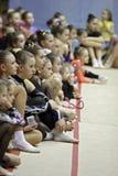 Rhythmic gymnastics tournament Royalty Free Stock Images