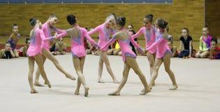 Rhythmic gymnastics tournament Stock Photo