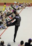 Rhythmic gymnastics tournament Royalty Free Stock Photography