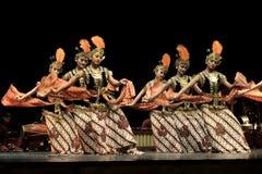 Rhythmic Motion Classical Dance Yogyakarta. 30/08/2016, Yogyakarta, Indonesia: Rhythmic motion Javanese dancers performed by traditionally dressed stock photo