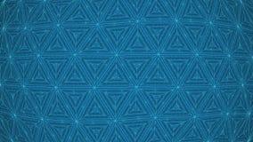 Rhythmische Drehbewegungs-Dreiecke stock video