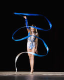 Rhythmische Gymnastik Stockbild