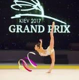 Rhythmische Gymnastik-internationale Schale in Kyiv stockbild