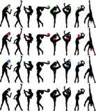 Rhythmische Gymnastik mit Kugel Stockbilder