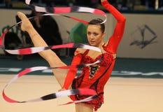 Rhythmische Gymnastik-Weltcup Stockbilder