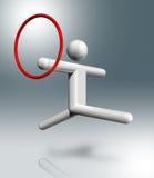 Rhythmisches 3D Symbol der Gymnastik, olympischer Sport Stockbild
