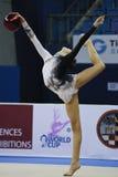 Rhythmisches Gymnast Daria Svatkovskaya Pesaro WC 2010 Lizenzfreies Stockfoto