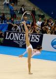 Rhythmisches gymnastisches Stockfotos