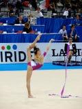 Rhythmisches gymnastisches Stockbilder