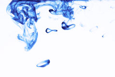 Rhythms of colors. Flowing blue liquid in white background Royalty Free Illustration