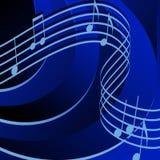 Rhythmus im Blau Stockfotos
