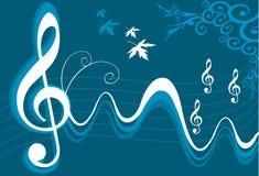 Rhythmus von Musik, Wellen und nicht Stockfotografie