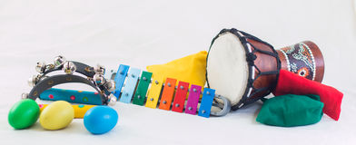 Rhythmusinstrumente Stockfotos